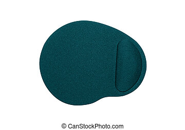 the mouse pad on a white background