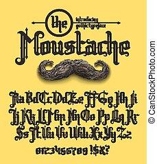 the moustache font - Decorative gothic typeface - the...