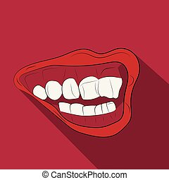 mouth with a smile vector drawing illustration