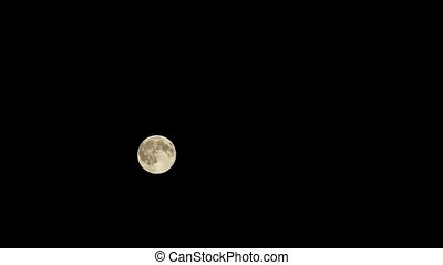 the movement of the moon in the night sky