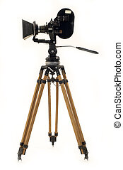 Professional 35?? the movie camera and tripod.
