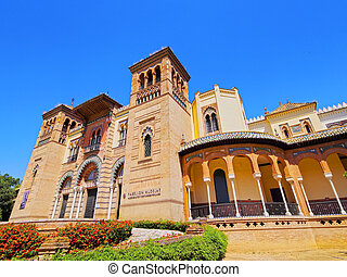 The Mudejar Pavilion in Seville, Spain