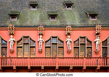 The Muenster(town) hall, Freiburg, Germany
