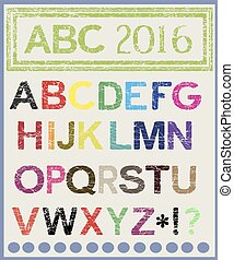 The multi-colored alphabet which will lighten mood.Vector.