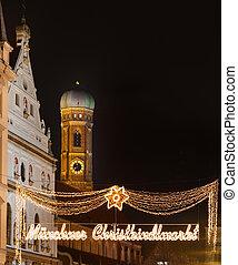 The Munich christmas markets. - The Munich markets are...