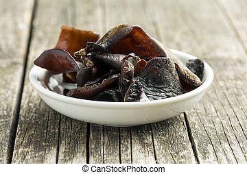 The mushroom jew's ear. Auricularia auricula-judae.
