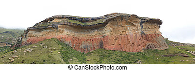 The Mushroom Rocks in the Golden Gate Highlands National Parkv
