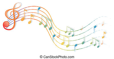 The musical notes and the G-clef