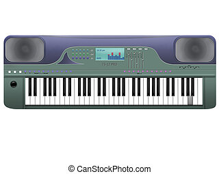 synthesizer - The musical tool synthesizer on a white...
