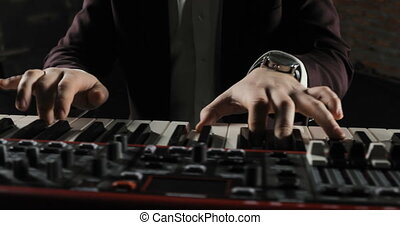 The musician playing the electric piano, Electric piano,...