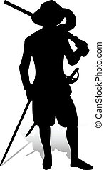 The musketeer - He owns a sabre and a musket equally well