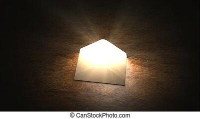 The mysterious letter, envelope, secret. Mysterious letter...