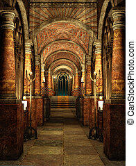 The mysterious Passage - an ancient passage with stairs and...