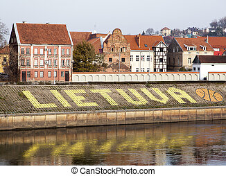 Lithuania - The name of the country Lithuania together with ...
