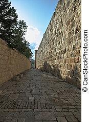 The narrow street in eternal Jerusalem