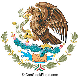 The national arms of Mexico on a white background