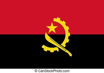 The national flag of Angola
