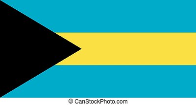 The national flag of Bahamas