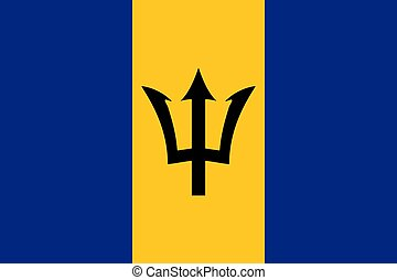 The national flag of Barbados