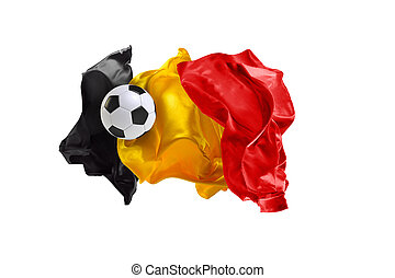 The national flag of Belgium. FIFA World Cup. Russia 2018