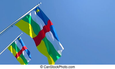 The national flag of Central African Republic flutters in ...