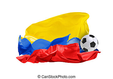 The national flag of Columbia. FIFA World Cup. Russia 2018