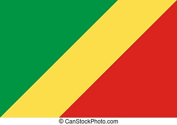 The national flag of Congo