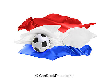 The national flag of Croatia. FIFA World Cup. Russia 2018