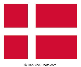 The national flag of Denmark