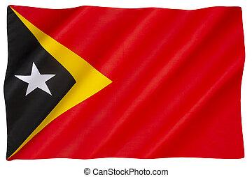 The national flag of East Timor