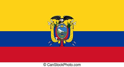 The national flag of Ecuador