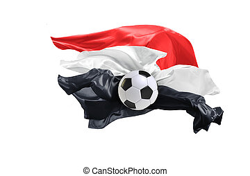 The national flag of Egypt. FIFA World Cup. Russia 2018