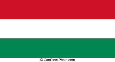 The national flag of Hungary