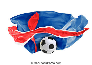The national flag of Iceland. FIFA World Cup. Russia 2018
