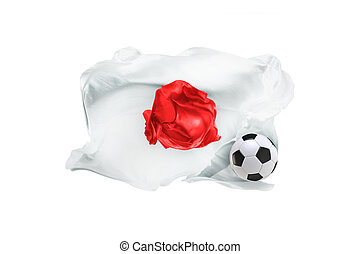 The national flag of Japan. FIFA World Cup. Russia 2018