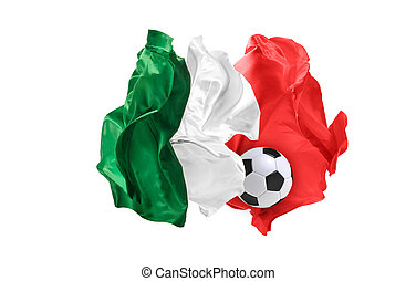 The national flag of Mexican. FIFA World Cup. Russia 2018