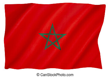 The national flag of Morocco