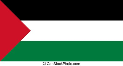 The national flag of Palestine