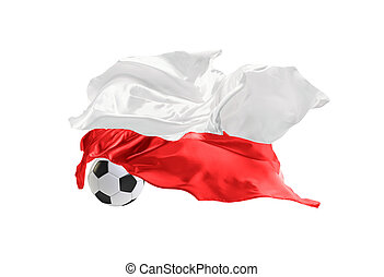 The national flag of Poland. FIFA World Cup. Russia 2018