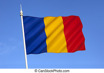 The national flag of Romania