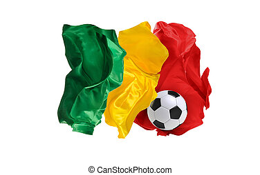 The national flag of Senegal. FIFA World Cup. Russia 2018