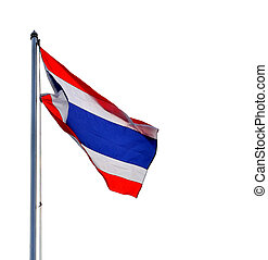 The National Flag of Thailand on white background
