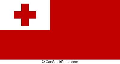 The national flag of Tonga