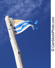 The national flag of Uruguay