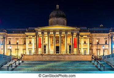 The National Gallery in Trafalgar Square, London
