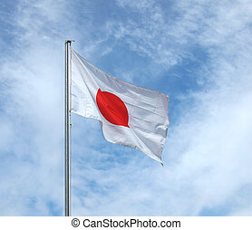 The national Japanese flag of Japan (JP)