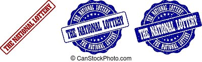 THE NATIONAL LOTTERY Grunge Stamp Seals