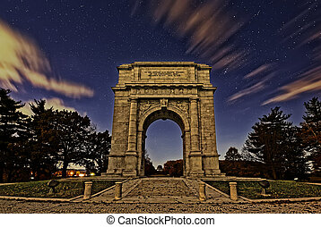 The National Memorial Arch at Night