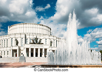 The National Opera and Ballet Theater Building in Minsk, Belarus