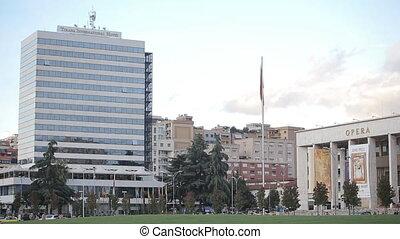 The National Opera and Hotel - TIRANA, ALBANIA - OCTOBER 22:...